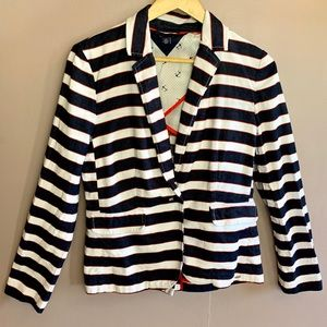 TOMMY HILFIGER STRIPED BLAZER RED WHITE AND BLUE